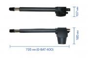 G-Bat 424: Габаритные размеры